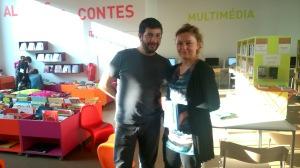 Adriana Crisan et Hacène Habchiche, bibliothécaires à la médiathèque de l'Île Saint-Denis